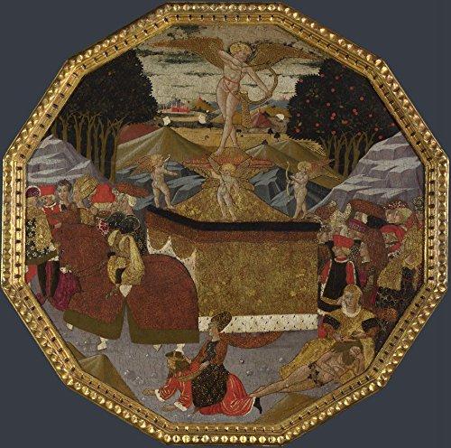 The Museum Outlet – Atelier d'Apollonio di Giovanni et atelier de Marco DEL Buono – Plateau de naissance – Le Triomphe de l'amour, Tendue sur toile Galerie enveloppé. 50,8 x 71,1 cm