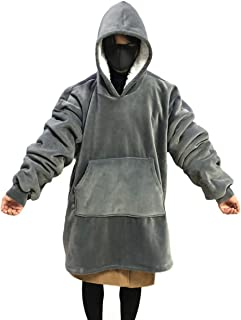 Giant Warm Oversized Blanket Sweatshirt for Men Women,Soft and Comfortable Pocket Sherpa Hoodie