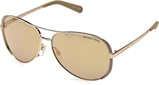 Michael Kors Aviator Sunglasses For Women - MK5004-101-7R1-59 - 59-30-135 mm