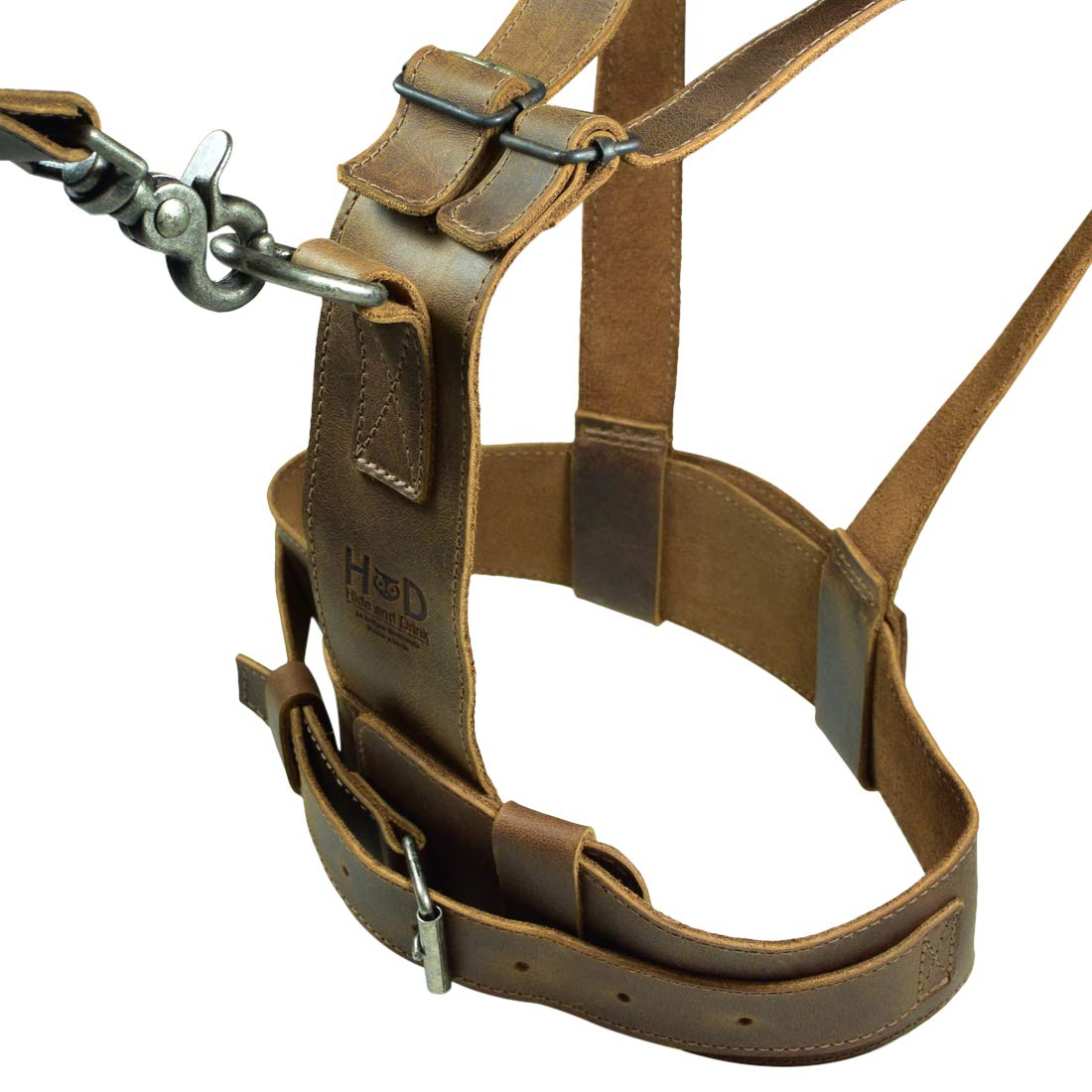 Hide & Drink, Leather Toddler Harness, Chest Size 9-11 in. Anti-Lost Belt, Child Safety, Walking Baby, Handmade Includes 101 Year Warranty :: Bourbon Brown