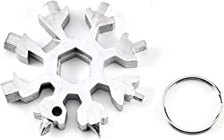 Free to Be, Inc. Original Snowflake 18-in-1 Multi-Tool Stainless Steel Key Ring/Screwdriver/ Bottle Opener/Bike Repair and More