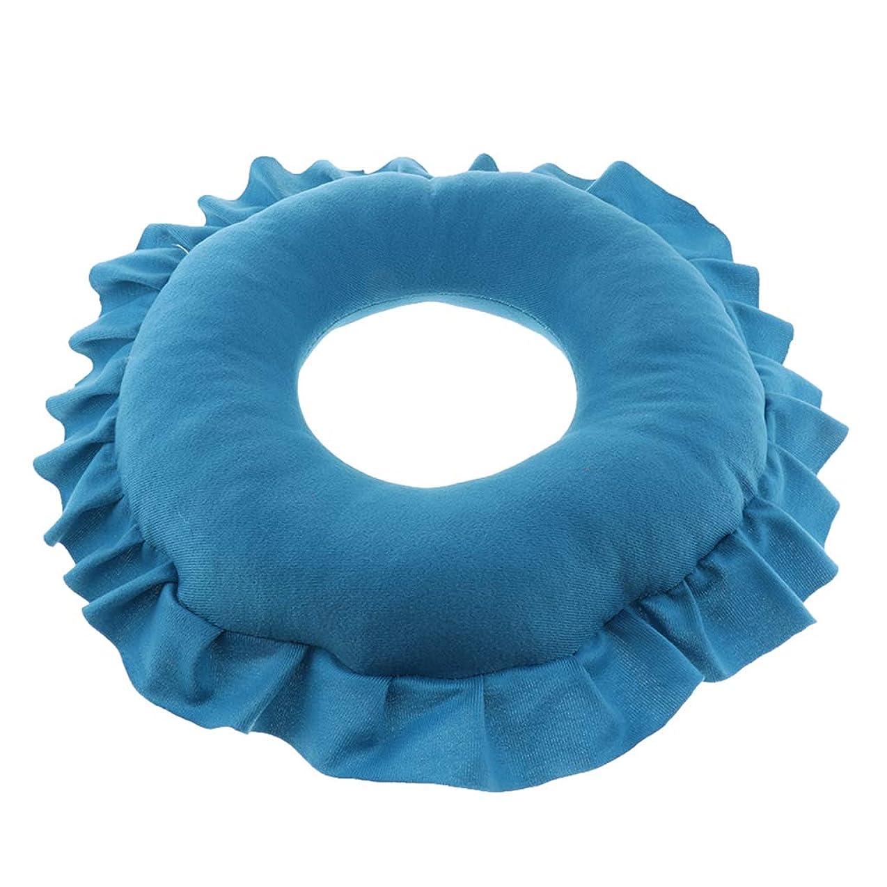 トーストつかいますお金ゴムP Prettyia 顔マク フェイスマット マッサージ枕 顔枕 ラウンド 直径30cm 洗える 柔らかい 快適 全4色 - 青