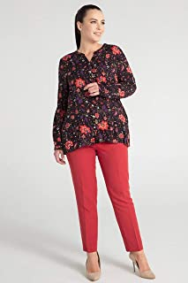 Pera-Kadın Baskili Gömlek - Turuncu