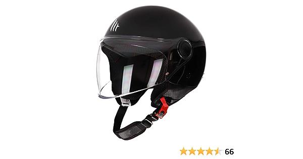 Matt Schwarz, M MT Street Jet-Helm /· Motorrad-Helm Roller-Helm Scooter-Helm Bobber Mofa-Helm Chopper Retro Cruiser Vintage Pilot Biker ECE 22.05