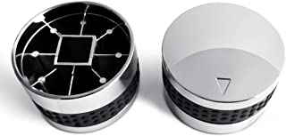 UNICOOK Universal Gas Grill Control Knob, 2 Pack Knobs, Chrome Plated Plastic with Nonslip Grip, Including 2 Knobs and 6 A...