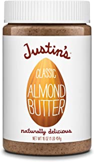 Justin's Classic Almond Butter, Only Two Ingredients, No Stir, Gluten-free, Non-GMO, Keto-friendly, Responsibly Sourced, 1...