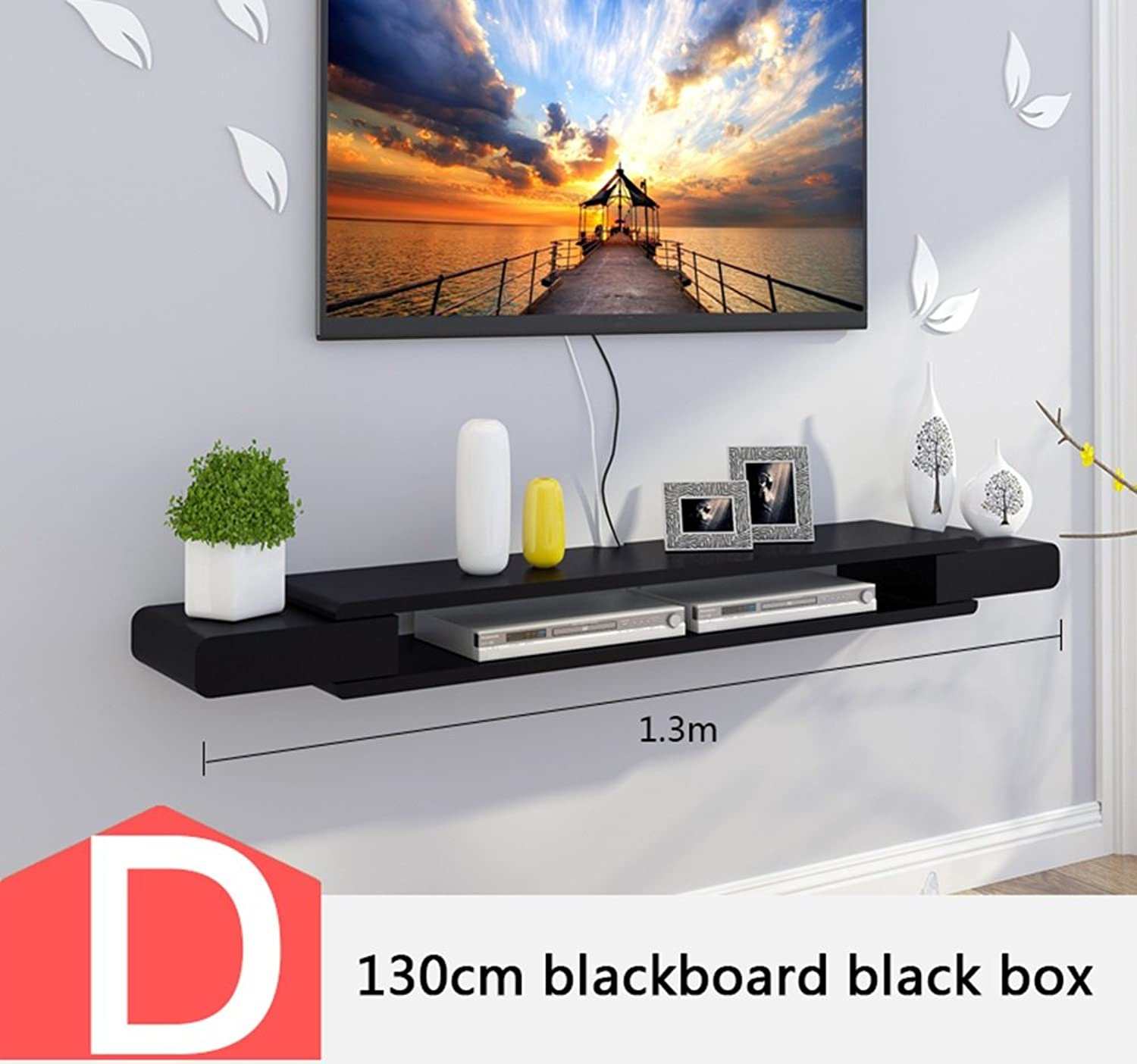 TV cabinet set-top box racks living room TV wall background wall mounts bedroom wall decoration frame partitions (color   D)