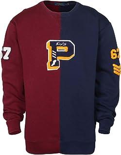 Ralph Lauren Polo Mens Big and Tall Varsity Patch Fleece Sweatshirt