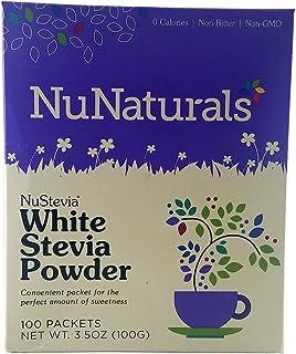 NuNaturals NuStevia White Stevia Powder - 100 Packets