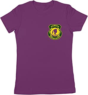 Pawnee Goddesses Patch Funny Classic Retro Camp Show Humor Womens Shirt