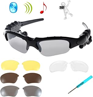 fb67c6d753 Gafas de Sol Inalámbricos,KINGCOO Plegables Bluetooth Auriculares Estéreo  Música para Teléfonos Inteligentes Dispositivos Bluetooth