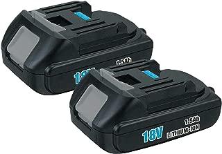 2Pack 1500mAh BL1815 18V Battery for Makita Lithium ion Replacement Battery BL1815N BL1820 BL1830 BL1840 BL1845 BL1850 BL1850B-2 LXT-400 18-Volt Cordless Power Tools Batteries