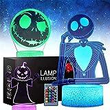 Regalos, Halloween Calabaza Rey Jack Skellington 3D Luz de Noche...