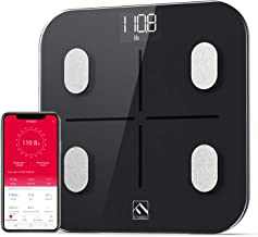 FITINDEX Smart Body Fat Scale, Bluetooth BMI Bathroom Scale, Digital Body Composition Analyzer Rechargeable Weight Monitor with App for Smartphone