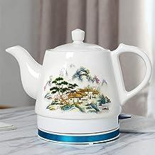 Elektrische keramische draadloze waterkoker theepot-retro 1.2L kan,snel water voor thee,koffie,soep,havermout-verwijderbar...