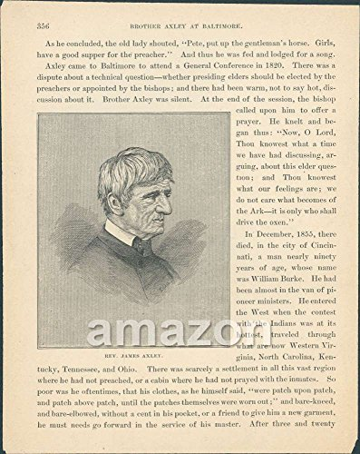Antique Print Rev James Axley (AJO-528)