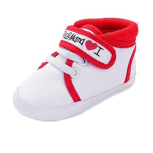 Zapatos Bebe Fossen I Papa&Mama Zapatos Suela Blanda del Antideslizante Primeros Pasos para Recién Nacido Niña