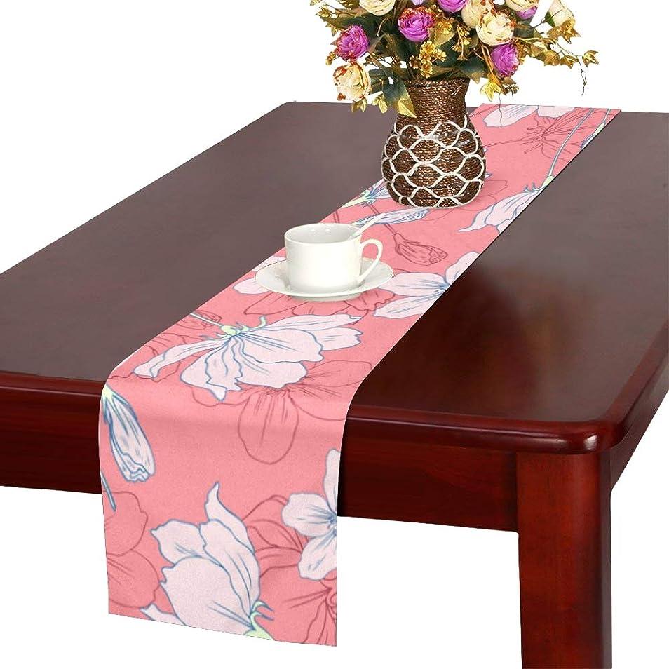 火曜日共和党電圧GGSXD テーブルランナー 美しい りんごの花 クロス 食卓カバー 麻綿製 欧米 おしゃれ 16 Inch X 72 Inch (40cm X 182cm) キッチン ダイニング ホーム デコレーション モダン リビング 洗える