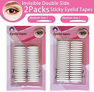 Double Eyelid Tapes,240Pairs instant eyelid lift strips for hooded droopy eyes, eye tape stickers for 24h stay, Self-Adhesive