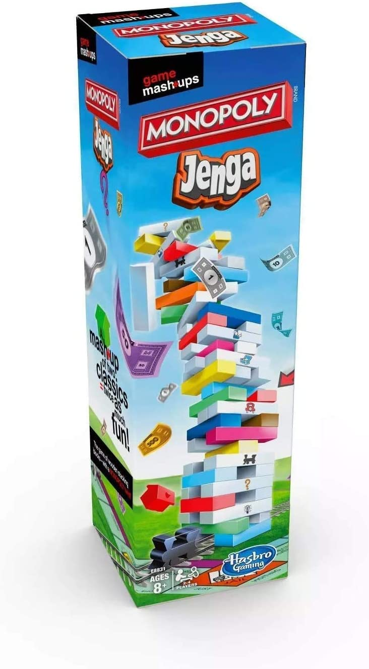 OFFicial shop Max 77% OFF Original Jenga-Monopoly - Two Famous One Fun Games in