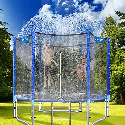 femor Trampolin Sprinkler Wasserpark für Kinder, Trampolin Wassersprinkler Outdoor, Trampolin Zubehör 12m lang für Wasserspiel, Spiele und Sommerspaß in Garten für Kinder und Erwachsene
