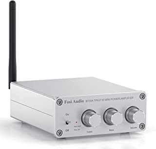 Fosi Audio BT20A-S - Bluetooth 5.0 Amplifier Stereo Audio Amp Receiver, 2 Channel Mini Hi-Fi Class D Integrated Amp, for H...
