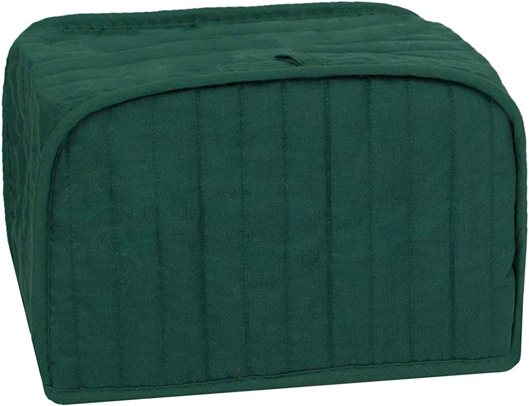 RITZ Polyester Cotton Quilted Four Slice Toaster Appliance Cover Dust And Fingerprint Protection Machine Washable Dark Green
