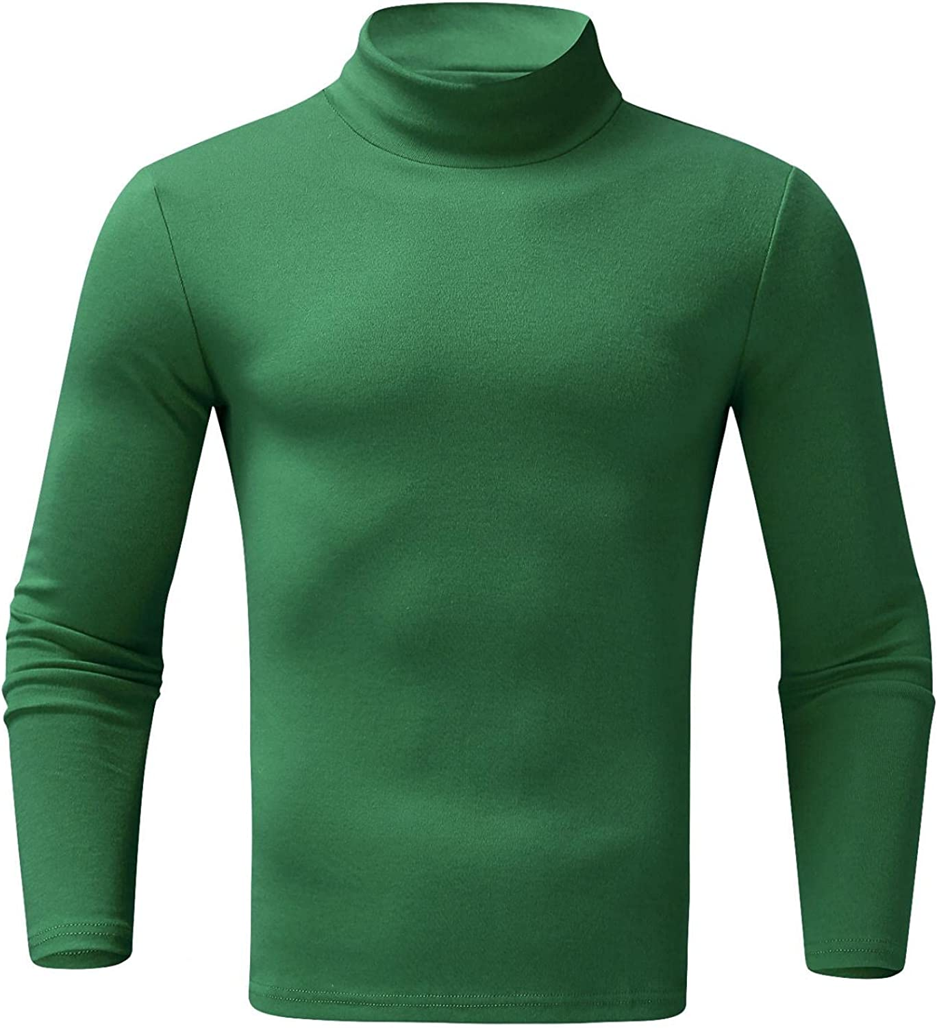 Mens Pullover Tops Solid Knitted Long Sleeeve Sweatershirts Casual Lightweight Thin Turtleneck Blouse Slim Fit Shirts