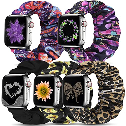 Beatlone Solo Loop Sport Bands Compatible for Scrunchie Apple Watch Band 38mm 40mm 42mm 44mm Soft Stretchy Wristband Women Men Elastic Strap Compatible for iWatch Series 6/SE/5/4/3/2/1