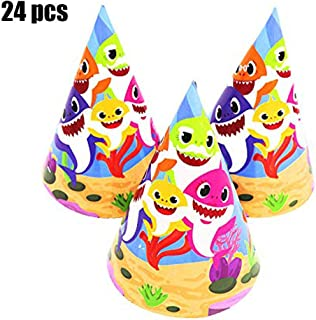 Shark Baby Birthday Party Hats Shark Theme Party Supplies - Shark Family Baby Shower Birthday Party Decorations