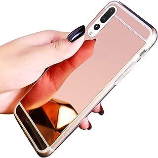 JAWSEU Fodral silikon kompatibelt med Huawei P20 Pro TPU gel mjukt gummi stötfångare fodral ultratunn smal passform flexib...