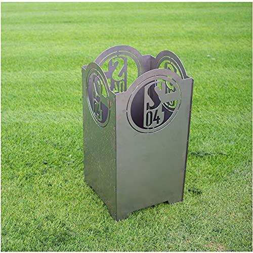 FC Schalke 04 Feuerkorb 40x40x80 cm S04 Feuertonne Feuersäule Fanartikel