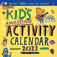 The Kids Awesome アクティビティ 壁掛けカレンダー 2021 [12インチ x 12インチ]