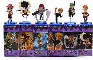 ZKADXN 6Pcs / Lot Anime Wcf One Piece Luffy Katakuri Zoro Sanji Charlotte Katak Ace Marco PVC Mini Action Figure Brinquedos Model Toy