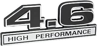 4.6 Liter High Performance Engine Emblem in Chrome & Black - 5