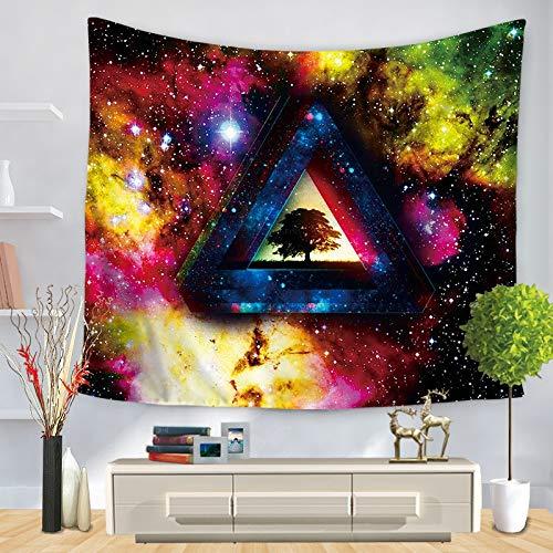 Tapiz geométrico colorido colgante de pared tapiz hippie celestial decoración de dormitorio tapiz psicodélico a10 73x95 cm