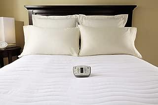 Sunbeam Heated Mattress Pad | Therapeutic with Zoned Heat, 10 Heat Settings, White, Full - MSU7RFS-C000-15C44