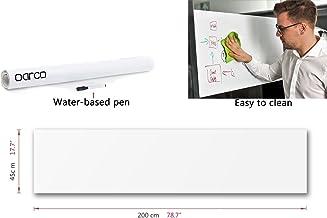Xhbear Whiteboard Sticker, Dry Erase Board Adhesive Wall White Board Stick,Dry Erase Wall Decal ,Paper White Boards Stickers for Kids Education & DIY Works School Home Office, 1 Unti Water Pen