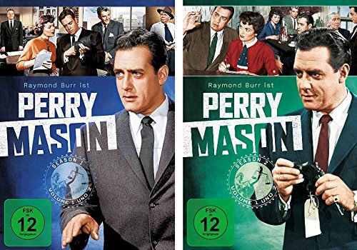 Perry Mason - Staffel/Season 1+2 im Set - Deutsche Originalware [18 DVDs]