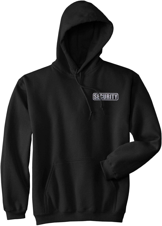 Smart People Clothing Security Hoodie, Reflective Logo, Party Bouncer Hoodie, Security Guard Hoodie Black