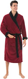 Alexander Del Rossa Men's Warm Fleece Robe, Plush Solid...