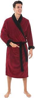 Alexander Del Rossa Men's Warm Fleece Robe, Plush Solid...