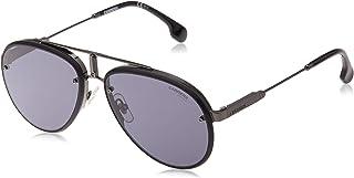 نظارات شمسية من كاريرا جلوري افياتور، لون اسود بدون لمعة، 17 ملم