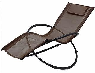Heaven Tvcz Rocking Gravity Chair Folding brown Orbit Zero Lounger Patio garden Outdoor new