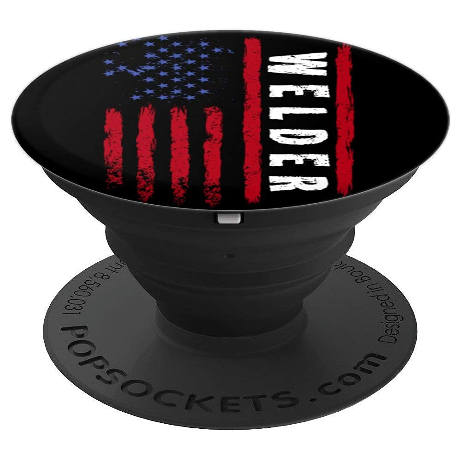 Welding America Welder Patriotic US American Flag ID4 Gift - PopSockets Grip and Stand for Phones and Tablets