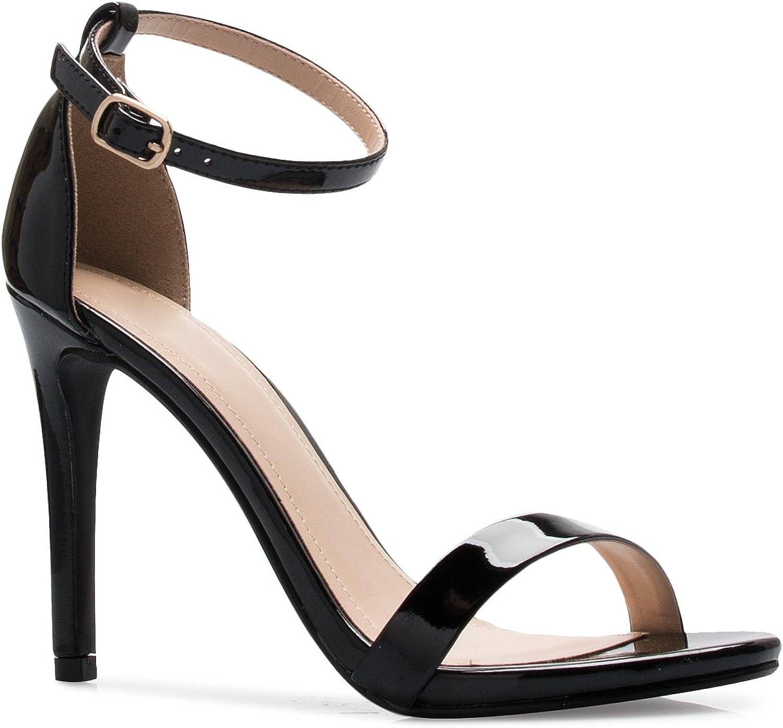 OLIVIA K Women's Ankle Strap Classic High Heel Dress Sandals