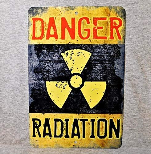 Sp567encer Metallschild Radiation Danger Warnung Radioaktivität Hazard Decay Xray Caution Dead Militär Krankenhaus Aluminium Man Cave Dekor
