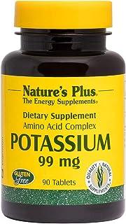 NaturesPlus Potassium - 99 mg, 90 Vegetarian Tablets - Essential Mineral Supplement, Promotes Healthy Electrolyte Balance ...