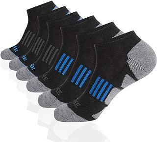 JOYNÉE Men's 6 Pack Athletic No Show Performance Cushioned Low Cut Running Socks