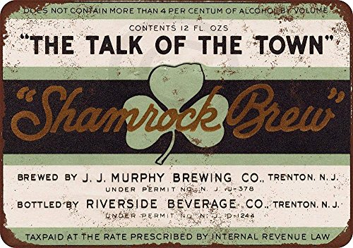 PotteLove 1933 Murphy Trifoglio Brew Birra Rustico Retro Metallo Sign 20,3 x 30,5 cm